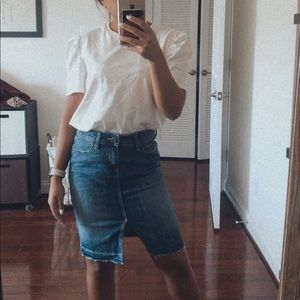Gap high waist denim skirt